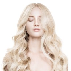 #6001 Extra ljusblond, 60 cm, Double drawn Nail hair